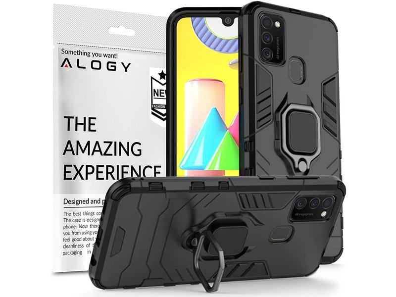 Etui Alogy Stand Ring Armor do Samsung Galaxy M21 czarne