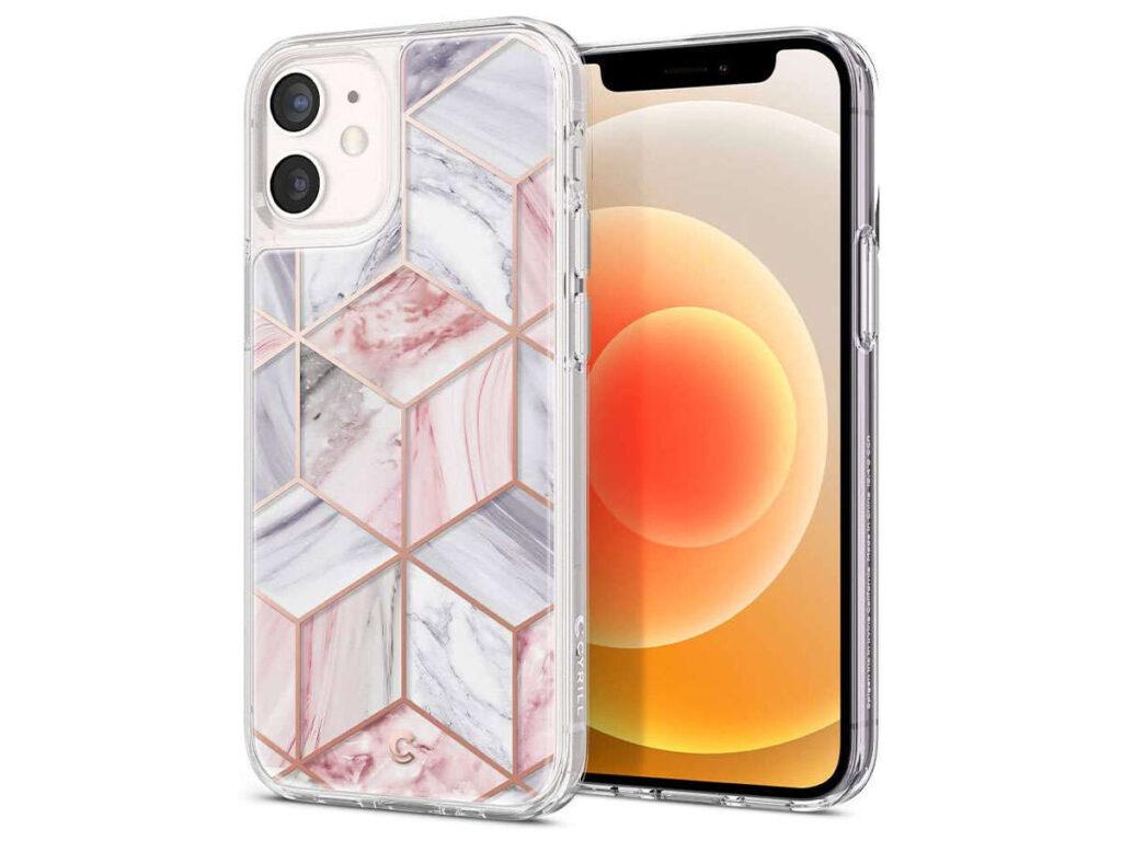 Etui obudowa Spigen Cyrill do Apple iPhone 12 Mini 5.4 Pink Marble